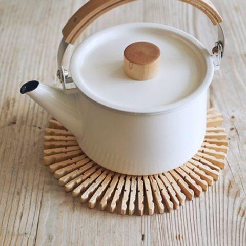 洗濯バサミ→鍋敷き