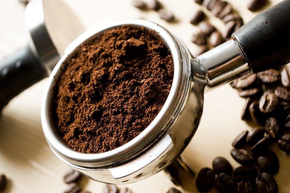 焙煎中のコーヒー