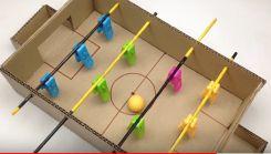 段ボールで作るフーズボールテーブル