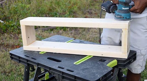 木材をコーティング