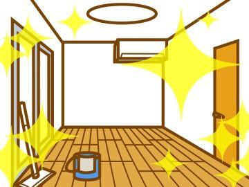 水拭きをして綺麗になった部屋