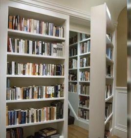 隠し部屋への本棚ドア