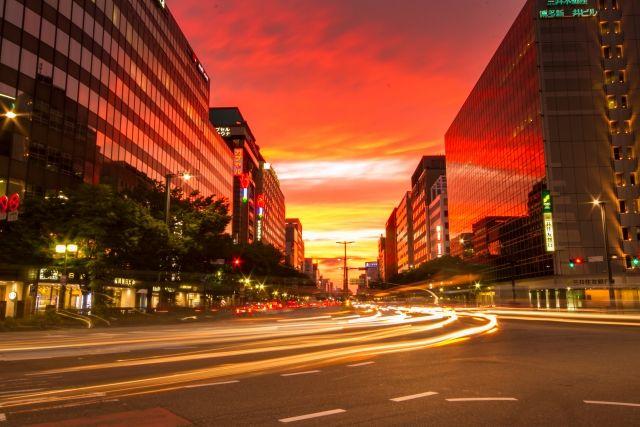 博多駅周辺の夜景