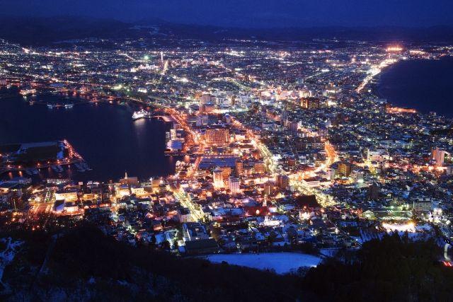 北海道函館市の夜景