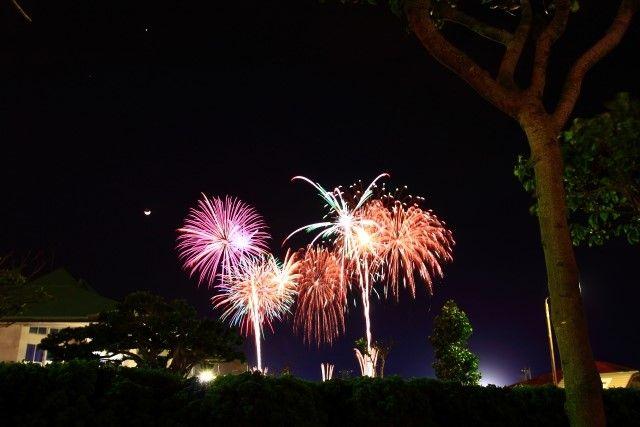 宜野湾はごろも祭りの花火