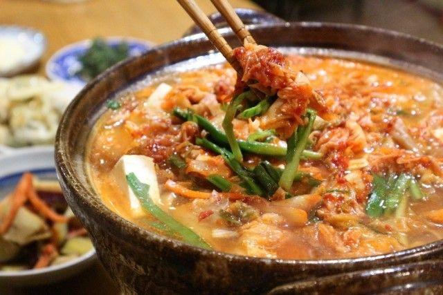 コチュジャンキムチ鍋