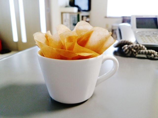 1.コーヒーフィルターを使った可愛い簡易加湿器!