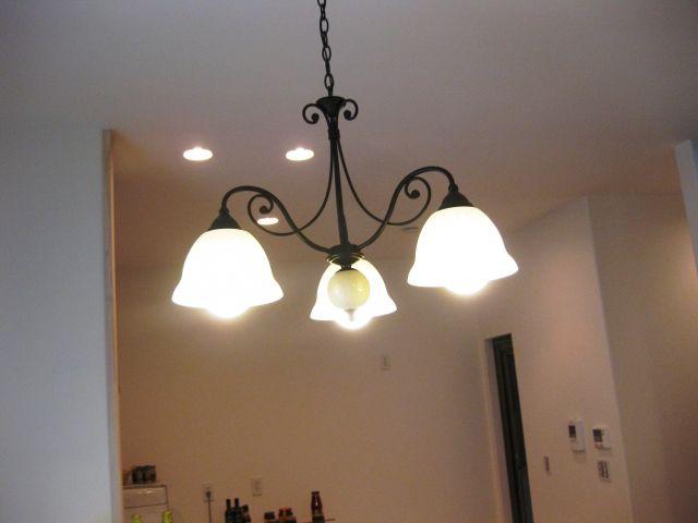 LED電球を使ったリビングの照明