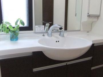 洗口液を洗面台でする場所