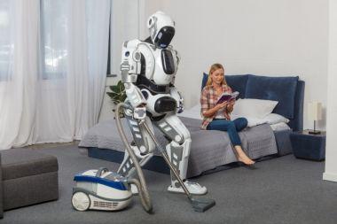ロボットが家事を代行している
