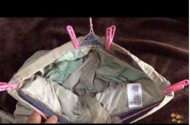 洗濯物 ズボンの干し方