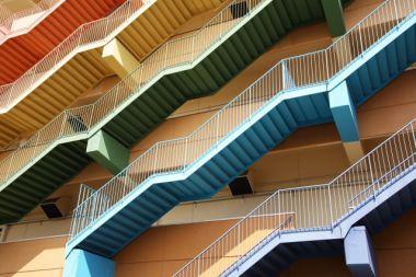 カラフルな階段