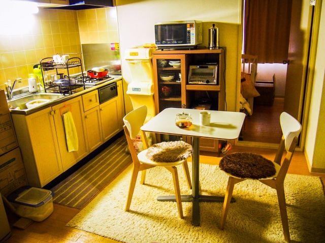 暖かさを考慮したキッチン