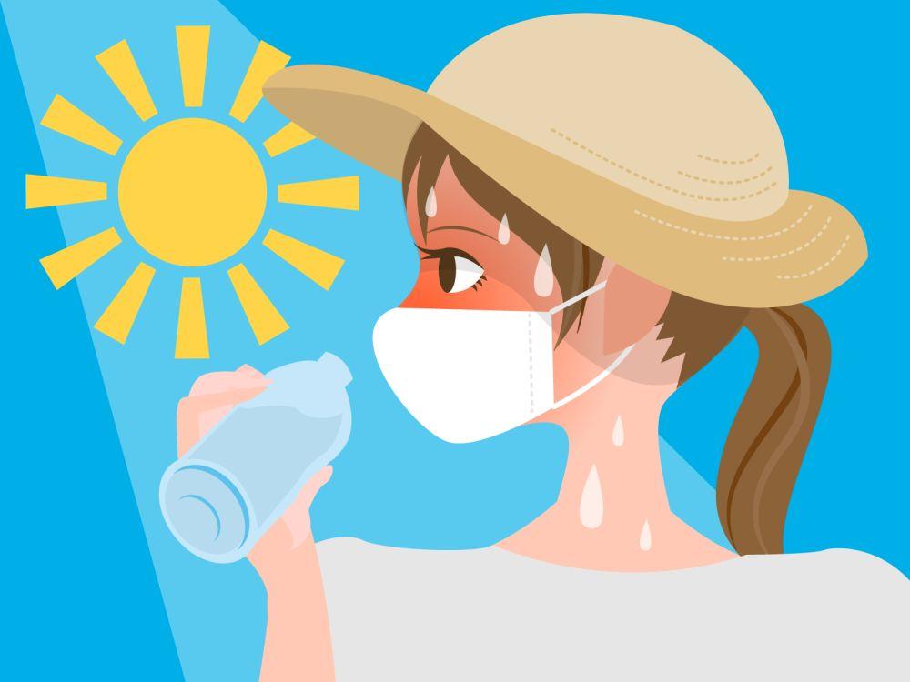 マスク着用のによる熱中症の危険をあらわす画像